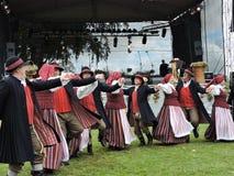 Dançarinos populares, Lituânia Imagens de Stock