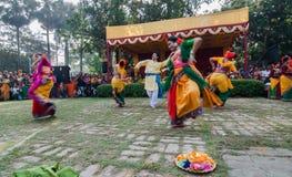 Dançarinos que executam na celebração de Holi, Índia Foto de Stock Royalty Free
