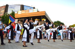Dançarinos romenos Foto de Stock Royalty Free