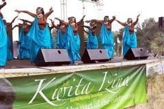 Dançarinos ruandeses Fotos de Stock Royalty Free