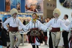 Dançarinos sérvios fotografia de stock royalty free