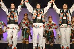 Dançarinos ucranianos Fotografia de Stock