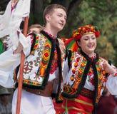 Dançarinos ucranianos Fotos de Stock