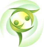 Dançarinos verdes ilustração do vetor