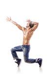 Danças da dança do dançarino Fotografia de Stock