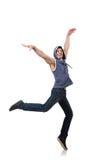 Danças da dança do dançarino Foto de Stock Royalty Free