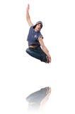 Danças da dança do dançarino Fotos de Stock