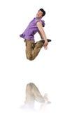Danças da dança do dançarino Foto de Stock