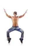 Danças da dança do dançarino isoladas Imagem de Stock Royalty Free