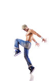 Danças da dança do dançarino isoladas Imagens de Stock Royalty Free
