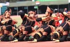 Danças de Aceh foto de stock