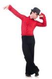 Danças de dança do espanhol do dançarino Fotos de Stock