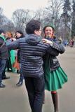 Danças do irlandês da dança dos povos Foto de Stock Royalty Free