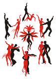 Danças latino-americanos Fotografia de Stock