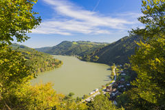 Danúbio em Áustria Fotografia de Stock