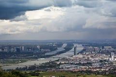 Danúbio Viena Imagens de Stock