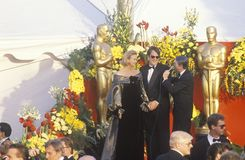 Dan Akroyd and Wife at 62nd Annual Academy Awards, Los Angeles, California Stock Images