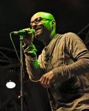 Dan Amariei - OCS Band. Dan Amariei, lead singer of Omul cu ÅŸobolani (The Man with Rats) a 4 piece alternative band from Romania stock images