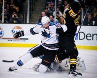 Dan Boyle, defesa, San Jose Sharks Imagens de Stock Royalty Free