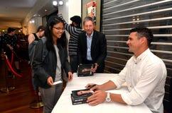 Dan Carter signing copies of his book Stock Image