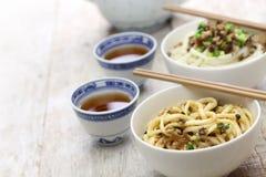 Dan dan noodles, chinese sichuan cuisine Royalty Free Stock Images