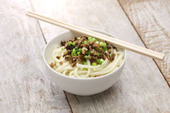Dan dan noodles, chinese sichuan cuisine Royalty Free Stock Photography