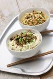 Dan dan noodles, chinese sichuan cuisine Royalty Free Stock Image