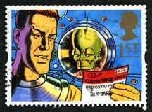 Dan Dare UK portostämpel Royaltyfria Foton