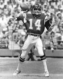 Dan Fouts. San Diego Chargers Hall of Fame Quarterback, Dan Fouts. (Image of b&w negative stock image