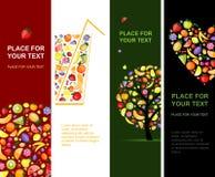Dan fruto las banderas verticales para su diseño libre illustration