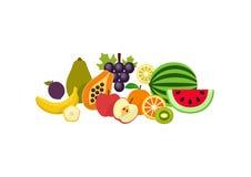 Dan fruto los iconos de las mercancías Ilustración del vector stock de ilustración