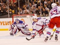 Dan Girardi and Henrik Lundqvist NY Rangers Royalty Free Stock Image