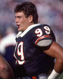 Dan Hampton Chicago Bears. Chicago Bears star DL Dan Hampton, #99. (image taken from color slide royalty free stock photography
