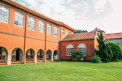 Dan Jiang High School historical building in Tamsui, New Taipei City, Taiwan. Dan Jiang High School, historical building in Tamsui, New Taipei City, Taiwan royalty free stock photography