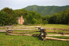 Dan Lawson Place. Cades Cove, Great Smokey Mountains National Park stock photo