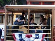 dan lincecumrunzler sitter den tim trolleyen Royaltyfria Foton