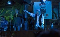 Dan McCafferty 70th Anniversary Birthday Party in Docker Pub in Kiev, Ukraine on 09 October, 2016. Dan McCafferty, singer and ex-frontman of the Scottish rock Stock Image