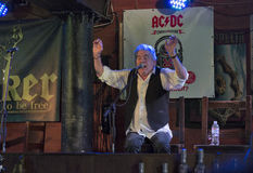 Dan McCafferty 70th Anniversary Birthday Party in Docker Pub in Kiev, Ukraine on 09 October, 2016. Dan McCafferty, singer and ex-frontman of the Scottish rock Stock Photos
