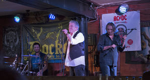 Dan McCafferty 70th Anniversary Birthday Party in Docker Pub in Kiev, Ukraine on 09 October, 2016. Stock Image