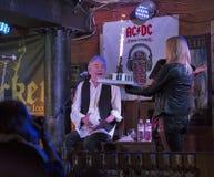 Dan McCafferty 70th Anniversary Birthday Party in Docker Pub in Kiev, Ukraine on 09 October, 2016. Stock Photo
