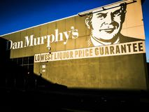 Dan Murphy`s is an Australian liquor supermarket chain owned by Woolworths Limited, with more than 215 stores across the country. SYDNEY, AUSTRALIA – On royalty free stock photography