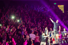 Dan Reynolds lets the crowd sing Royalty Free Stock Photo