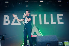 Dan Smith of Bastille. Dan Smith of the band Bastille during a concert at Longitude Festival 2014 in Dublin, Ireland royalty free stock photography