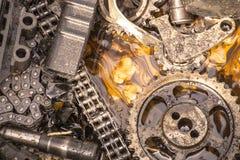 Dan was het een tractormotor stock afbeelding
