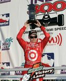 2006 Toyota Indy 300. Dan Weldon celebrates winning the Toyota Indy 300 at Homestead Miami Speedway in Homestead, Florida on March 26, 2006 stock photography