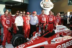2006 Toyota Indy 300. Dan Weldon and team celebrate winning the Toyota Indy 300 at Homestead Miami Speedway in Homestead, Florida on March 26, 2006 stock photos