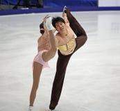 Dan Zhang e Hao Zhang (CHN) Immagine Stock Libera da Diritti