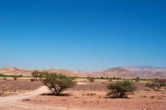 Dana Biosphere Reserve, Jordanië, Midden-Oosten Stock Afbeelding