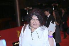 Dana Bunescu Ana, pose d'intrigue amoureuse de lundi avec l'ours argenté Images stock