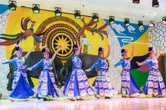 A dança chinesa do miao Foto de Stock Royalty Free